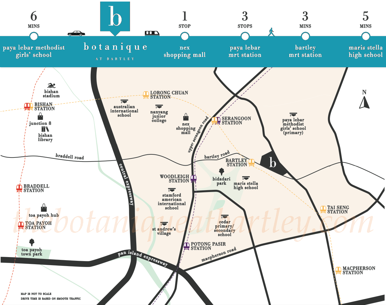 Botanique Location Map