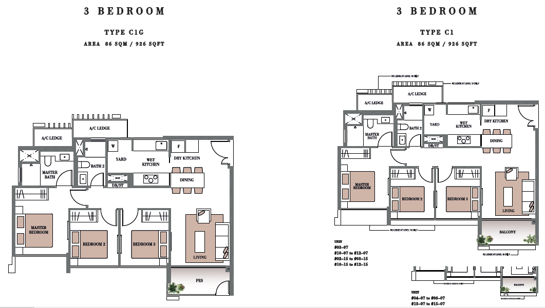Botanique floor plans botanique bartley condo floor plan for Condo blueprints