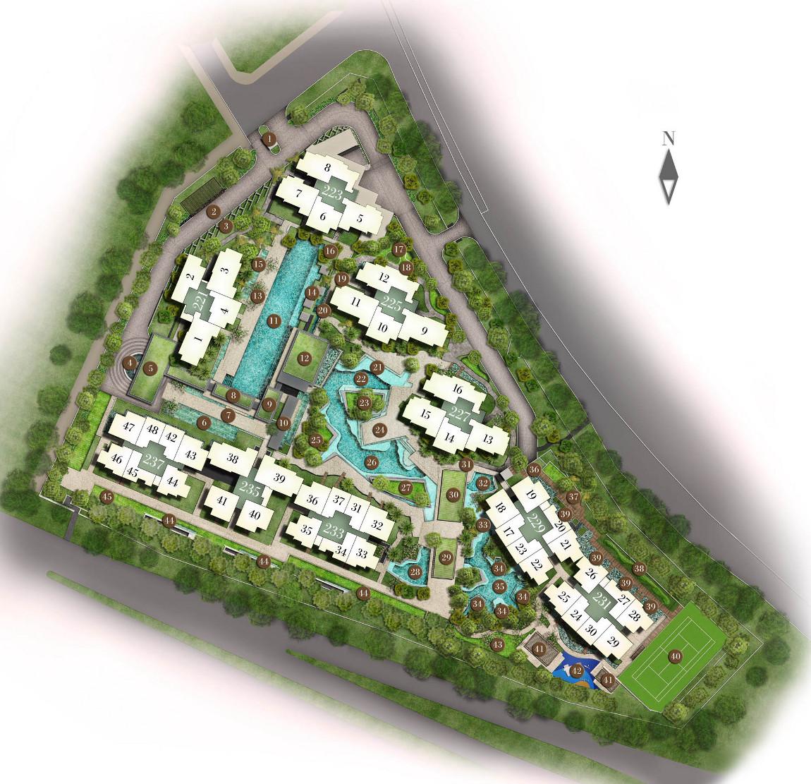 Botanique Site Plan Layout
